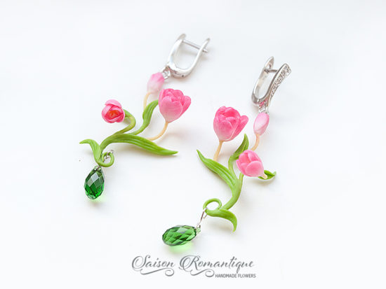 Серьги Тюльпаны